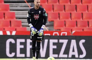 Aarón en el último partido de Liga del Granada CF | Foto: Pepe Villoslada / Granada CF