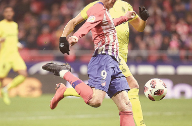 Kalinic remata para hacer el 1-0 // FOTO: Club Atlético de Madrid