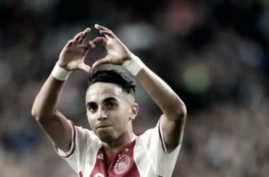 Nouri celebrando uno de sus últimos goles con el Ajax. / Foto: Ajax.nl