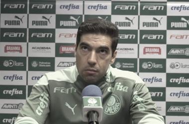 Abel Ferreira após Flamengo 1 a 0 Palmeiras (TV Palmeiras / FAM / Divulgação)