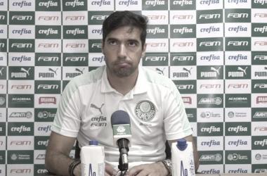 Abel Ferreira após CRB 0 a 1 Palmeiras (TV Palmeiras / FAM / Divulgação)