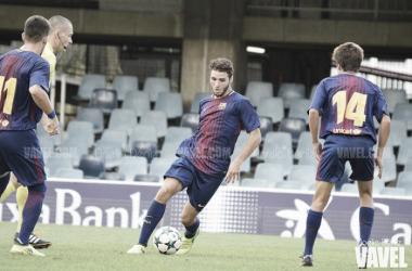 Abel Ruiz ante la Juventus de Turin en la UEFA Youth League. Foto: Noelia Déniz, VAVEL