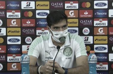 Abel Ferreira após Universitario 2 a 3 Palmeiras (ESPN / Reprodução)