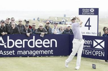 Justin Rose vainqueur de l'Open d'Écosse.
