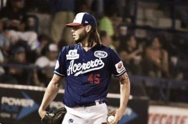José Oyervídez apenas permitió un imparable en su actuación | Foto: Acereros Oficial