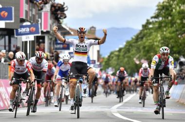 Ackermann vince a Fucecchio Fonte foto: Profilo Twitter Giro d'Italia
