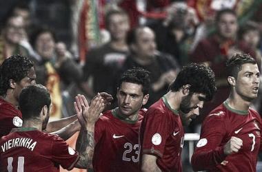 Portugal alcanza el liderato del grupo al vencer a Rusia