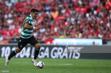 Acuna marcou o golo da vitória para o Sporting. GettyImages