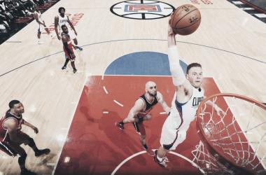 Com 26 pontos, 10 rebotes e 9 assistências, Griffin ficou perto de um triple-double (Foto: Divulgação/NBA)