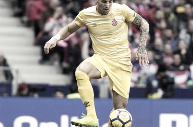 Aday Benítez en el partido ante el Athletic Club. (Foto: LFP)