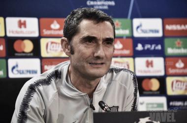 Ernesto Valverde en la rueda de prensa previa | Foto de Noelia Déniz, VAVEL