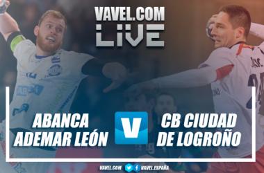 ABANCA Ademar León vs CB Ciudad de Logroño. Fotomontaje: Óscar Oliván.