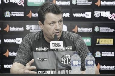 Treinador do Alvinegro de Porangabuçu festejou poder de reação de sua equipe (Foto: Mauro Jefferson/Ceará S.C.)