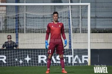 Adri López durante el Espanyol B - Badalona de la campaña 19 - 20. | Foto: Noelia Déniz - VAVEL