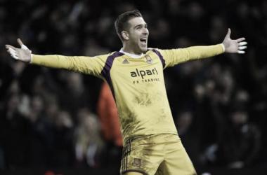 Adrián está centrado en el West Ham. Foto: EuropaPress