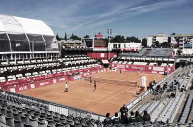 Stadium Millennium during the morning. Benoit Paire was practicing. (Pedro Cunha/VAVEL USA)