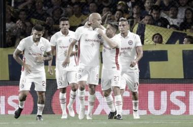 Silva decretó la igualdad ante Boca Foto: Argentinos Juniors.