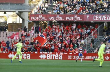 La afición, incansable una vez más. Foto: Granada CF.