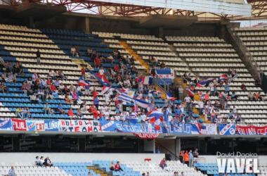 La aficiòn 'europea' de Nacional se hizo presente en ambos partidos. Foto: David Dopico (VAVEL)