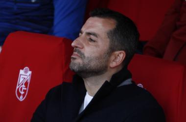 Diego Martínez durante el partido del Granada CF frente al Deportivo. Foto: Antonio L Juárez