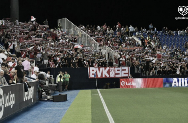 La afición franjirroja, en el último encuentro disputado en Butarque. Foto: Rayo Vallecano