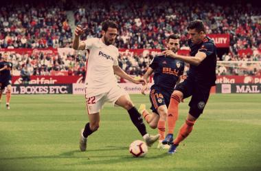 Franco Vázquez el mejor de los locales | Foto: Sevilla FC