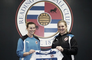 Anna Green pictured here with manager Kelly Chambers | Source: reading.fawsl.com