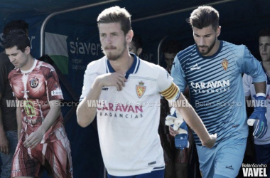 El nuevo jugador del Bilbao Athletic en su etapa como maño. | Belén Sancho (VAVEL).