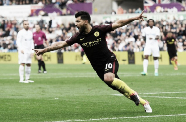 Agüero guarda dois, City vence Swansea e segue imbatível na Premier League
