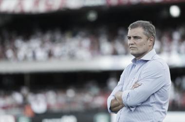 Contente com vitória do São Paulo, Aguirre celebra vantagem para segundo jogo da semifinal