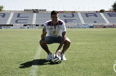 Paco Aguza, presentado como jugador del Real Jaén
