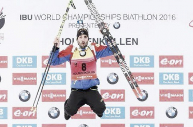 Martin Fourcade has dominated the opening stages of the Biathlon World Championships (image via: Twitter)