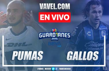 Goles y resumen del Pumas 3-2 Querétaro en Liga MX 2020