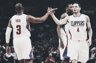 Combinando 57 pontos, Chris Paul e JJ Redick foram destaques do Clippers na vitória (Foto: Divulgação/NBA)