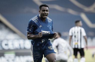 Airton comemora o único gol da partida (Foto: Bruno Haddad/Cruzeiro EC)