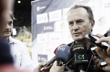 Aíto comparece ante los medios | Imagen: CB Gran Canaria