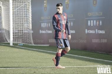 Aitor Cantalapiedra con el FCB Juvenil A la temporada 2014/2015. Foto: Noelia Déniz, VAVEL