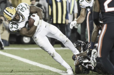 Aaron Jones picked up his first career TD this evening | Source: Associated Press-FoxSports.com