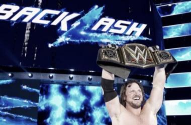 AJ Styles captures the WWE World Championship. Photo- WWE.com