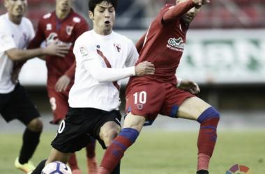 Julio Álvarez fue suplente en el último encuentro disputado ante el Girona. Imagen: La Liga