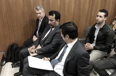 Al-Thani en uno de sus juicios / Foto: Málaga CF