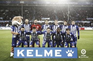 Alineación del Alavés en el partido de ayer frente al Villarreal. / Foto: LaLiga