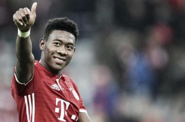 Alaba, en un partido de la pasada temporada. Fuente: FC Bayern