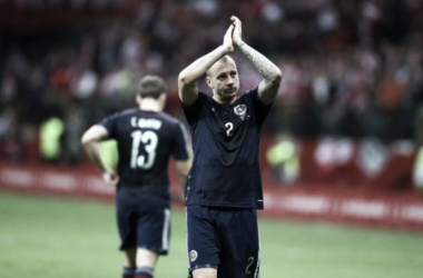 Alan Hutton is preparing for a huge game against Poland (photo: thescotsman)