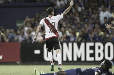 Alario. Marcó su segundo gol en la Copa Libertadores. (Foto: web).