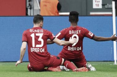 Leon Bailey y Lucas Alario se han encargado de los goles.| Foto: bundesliga.com