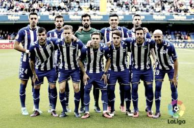 Once inicial del Alavés el pasado año en El Madrigal. Foto: La Liga.