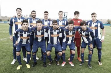 Alineación del Alavés B en la anterior jornada de liga. / Foto: Deportivo Alavés