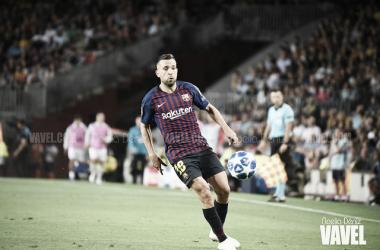 Jordi Alba ante el Inter | Foto: Noelia Déniz (VAVEL)