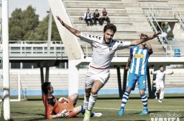 Imagen de Borja, que hacía el 1-0 ante el Villarrubia. FOTO: Mateo Villalba (VAVEL)
